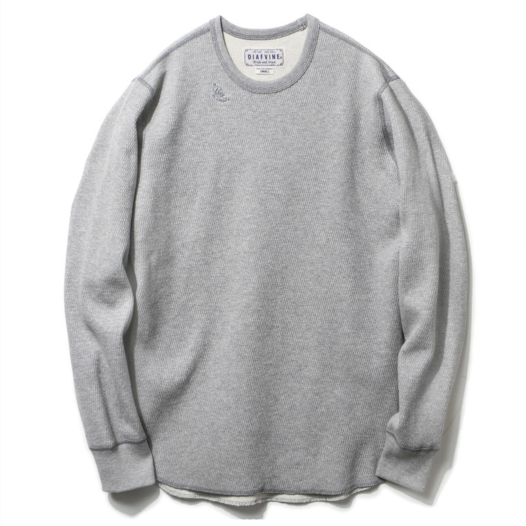 [SALE 38%]DV. LOT428 HEAVY WEIGHT THERMAL L/S -GREY-
