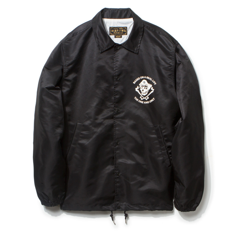 "DV. LOT434 ""C.S"" NYLON COACH JKT -BLACK-"