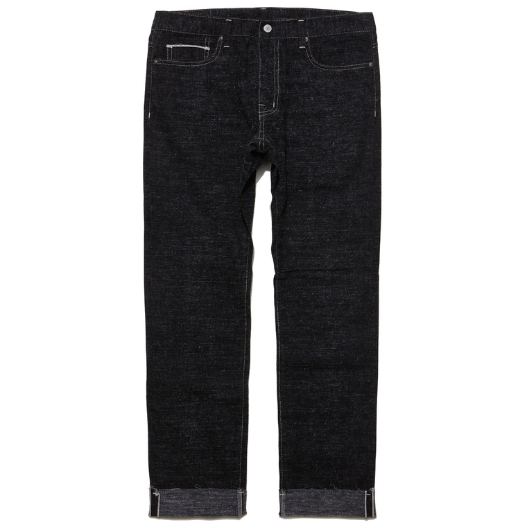 DV. LOT498 WOOL SELVEDGE DENIM/ CUT OFF PANTS -BLACK-