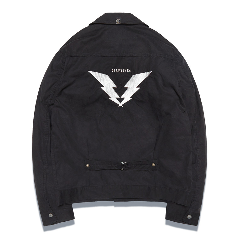 [SALE 20%]DV. LOT546 EMBROIDERY TRUCKER JKT -BLACK- (BIOFADE)