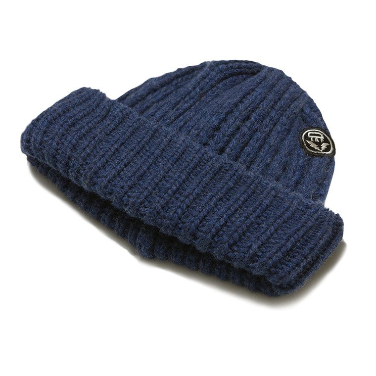 DV. LOT 553 WOOL LONG BEANIE -INDIGO-