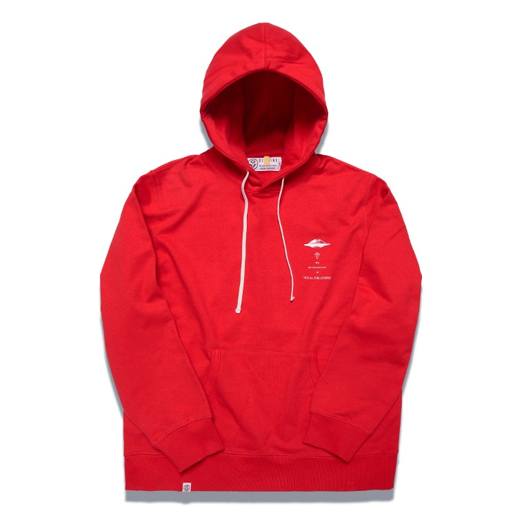 DV. LOT547 HEAVY WEIGHT SWEAT HOODIE -RED-