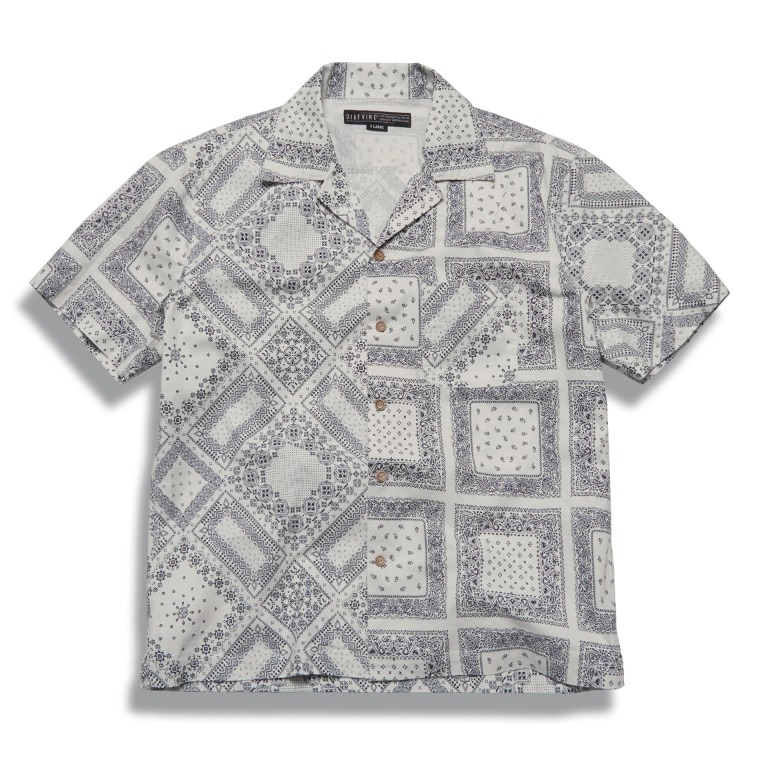 DV. LOT610 Paisley Open Collar Shirts (Two-Face) -ECRU-