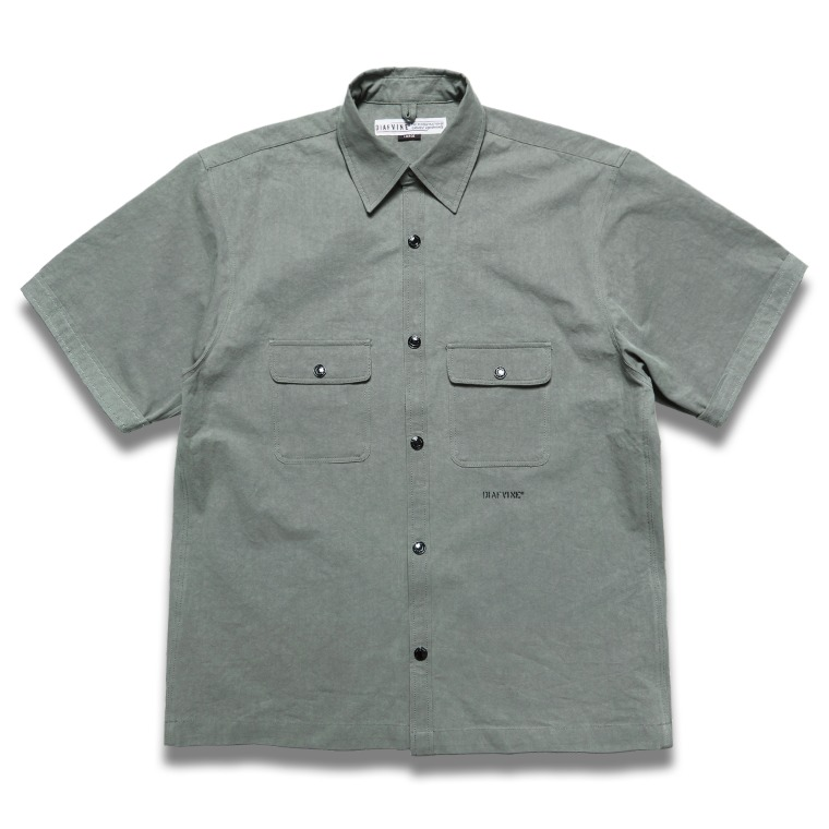 DV.LOT 633 Cotton Shirts -ASH KHAKI-